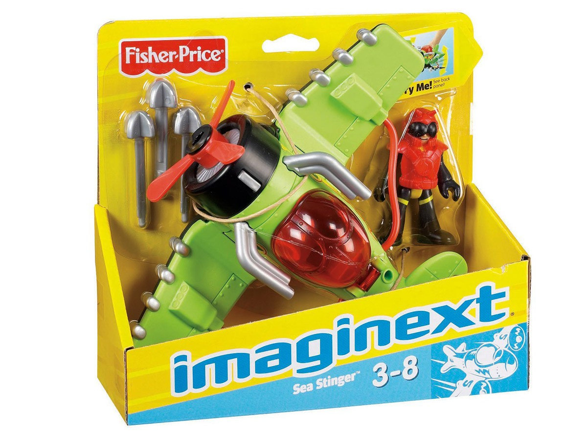 AVIÃO IMAGINEXT SKY RACER SEA STINGER T5308 FISHER-PRICE