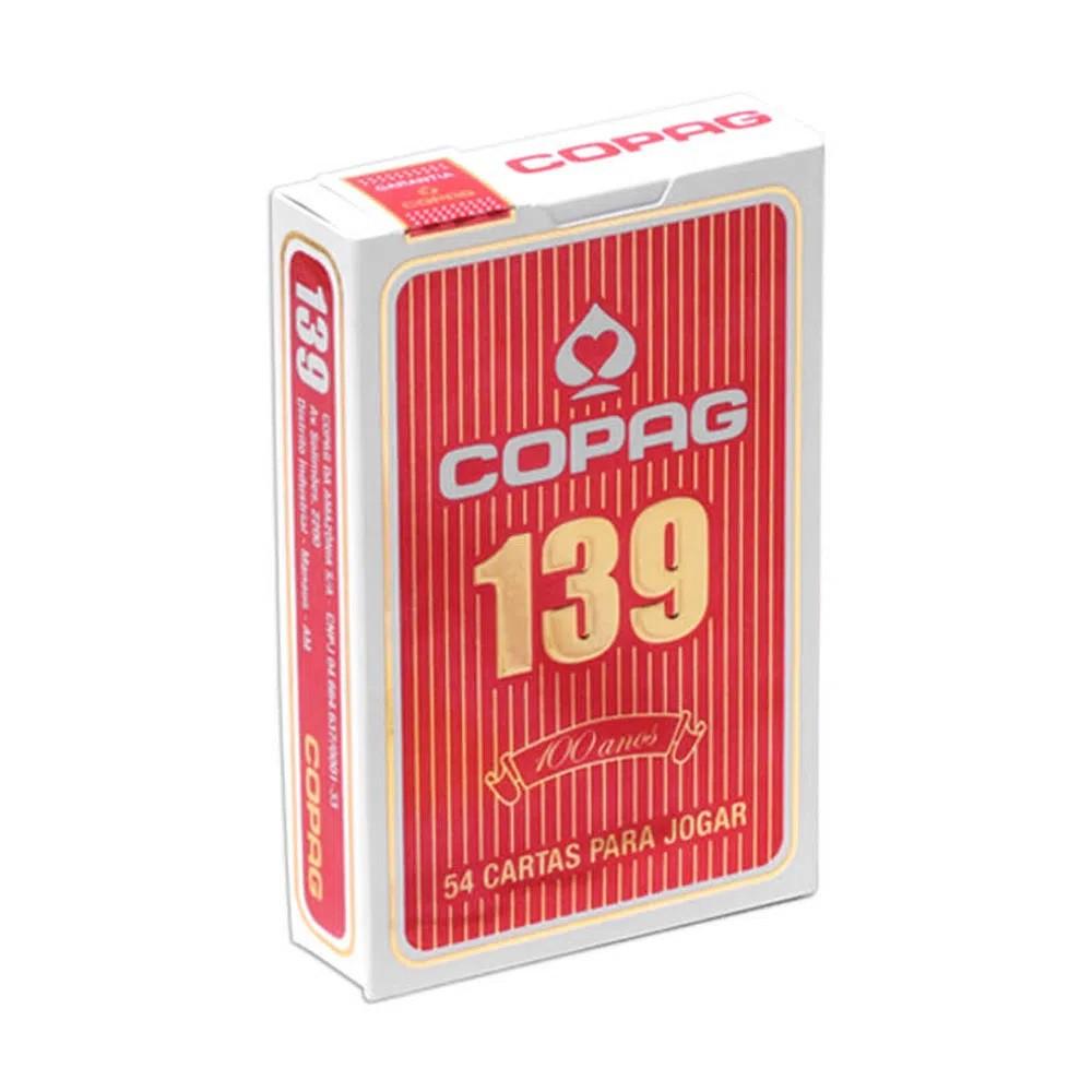 BARALHO COPAG 139 NAIPE CONVENCIONAL VERMELHO 91014 COPAG