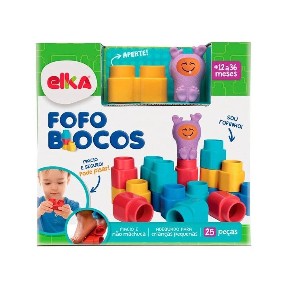 BLOCOS DE MONTAR FOFO BLOCOS 25 PECAS 1011 ELKA