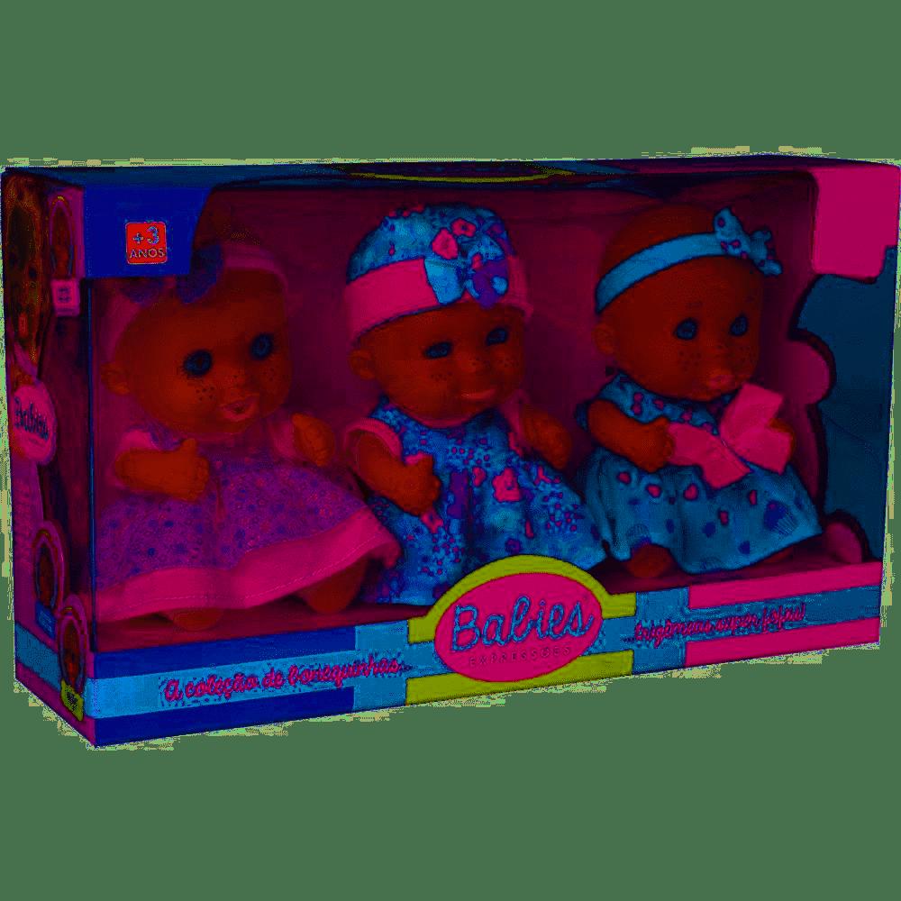 BONECA BABIES EXPRESSOES TRIGEMEAS