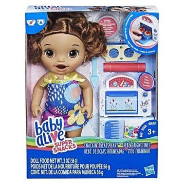 BONECA BABY ALIVE MEU FORNINHO MORENA HASBRO E2098