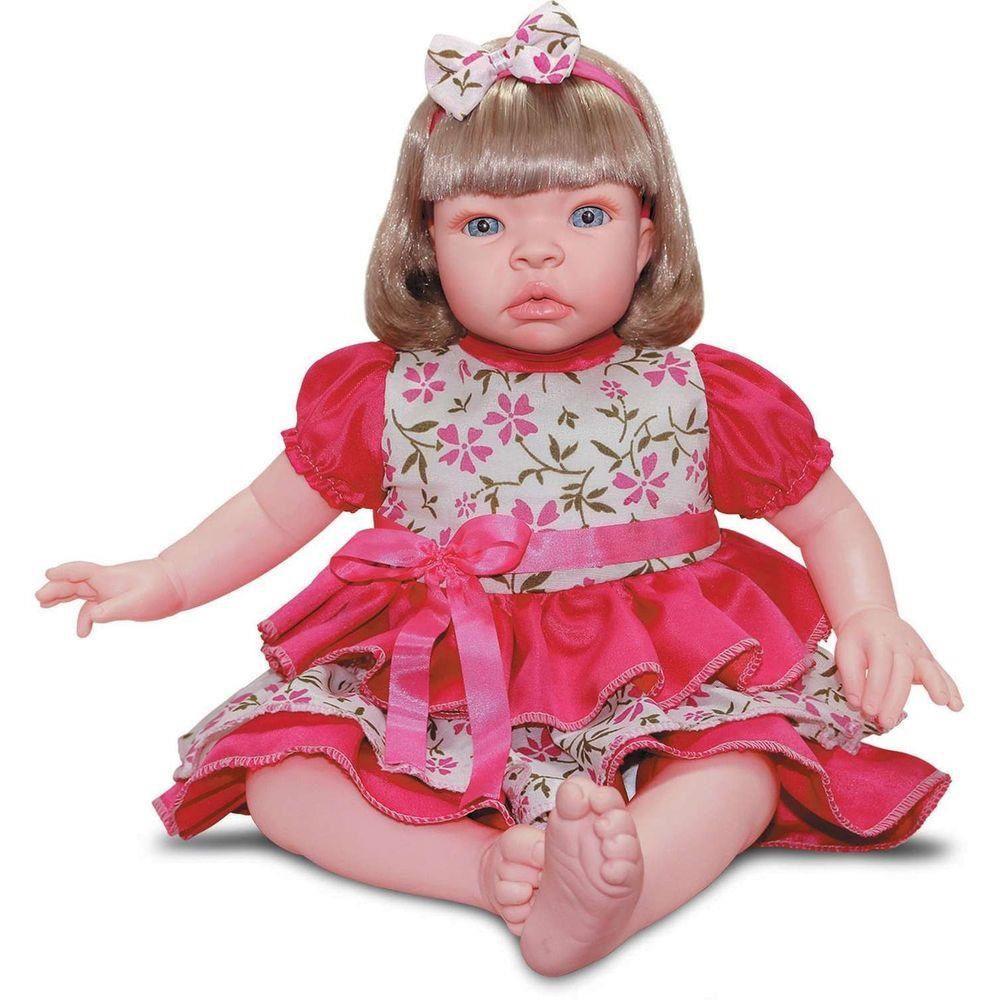 BONECA BABY KISS LOIRA ESTILO REBORN 912SD SID-NYL