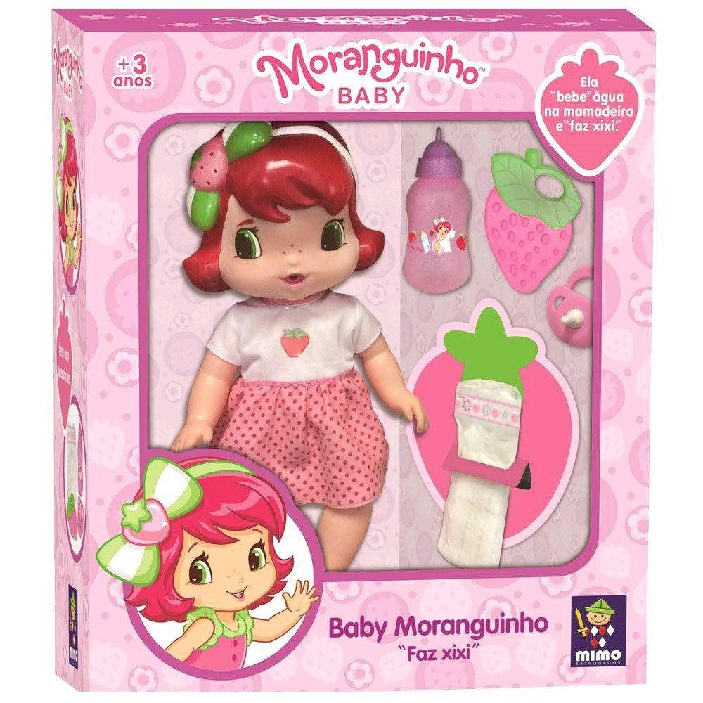 BONECA BABY MORANGUINHO FAZ XIXI 4006 MIMO