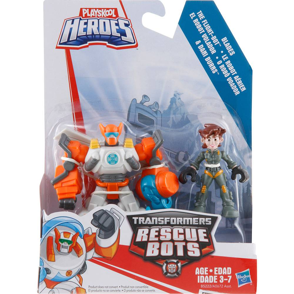 BONECO COM ROBÔ TRANSFORMES RESCUE BOT TRAN CHASE AND CHIEF A0672 / B5222 PLAYSKOOL