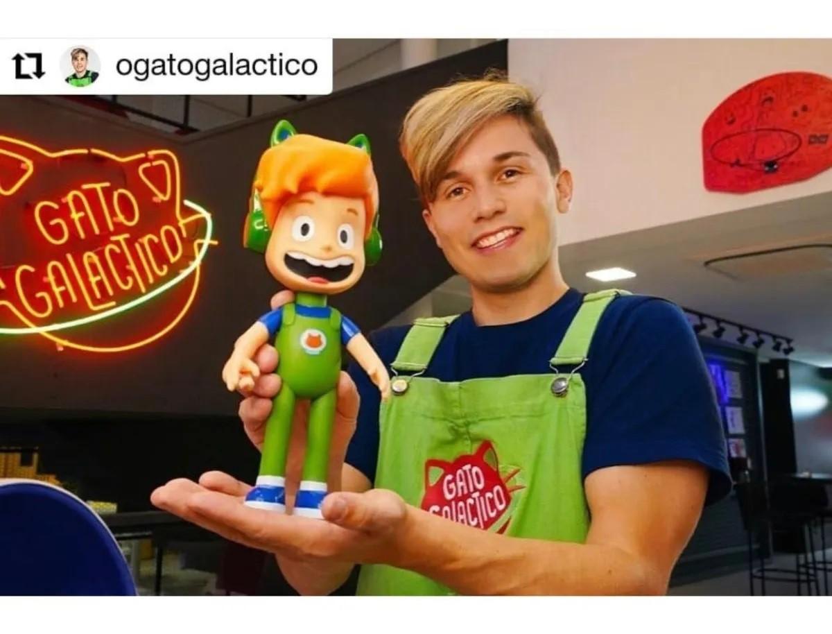 BONECO GATO GALÁCTICO 28CM LUNÁTICO 1090 BABY BRINK