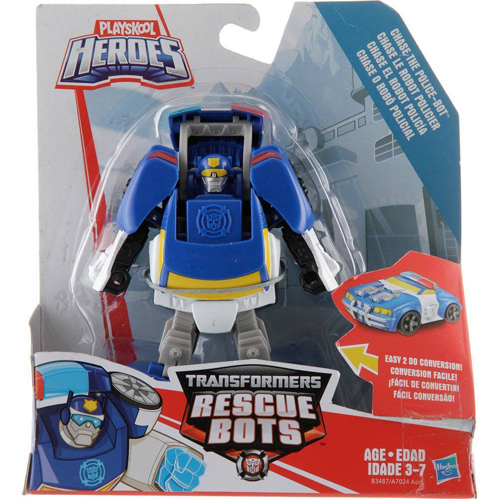 BONECO TRANSFORMERS RESCUE BOTS CHASE THE COP BOT  HASBRO