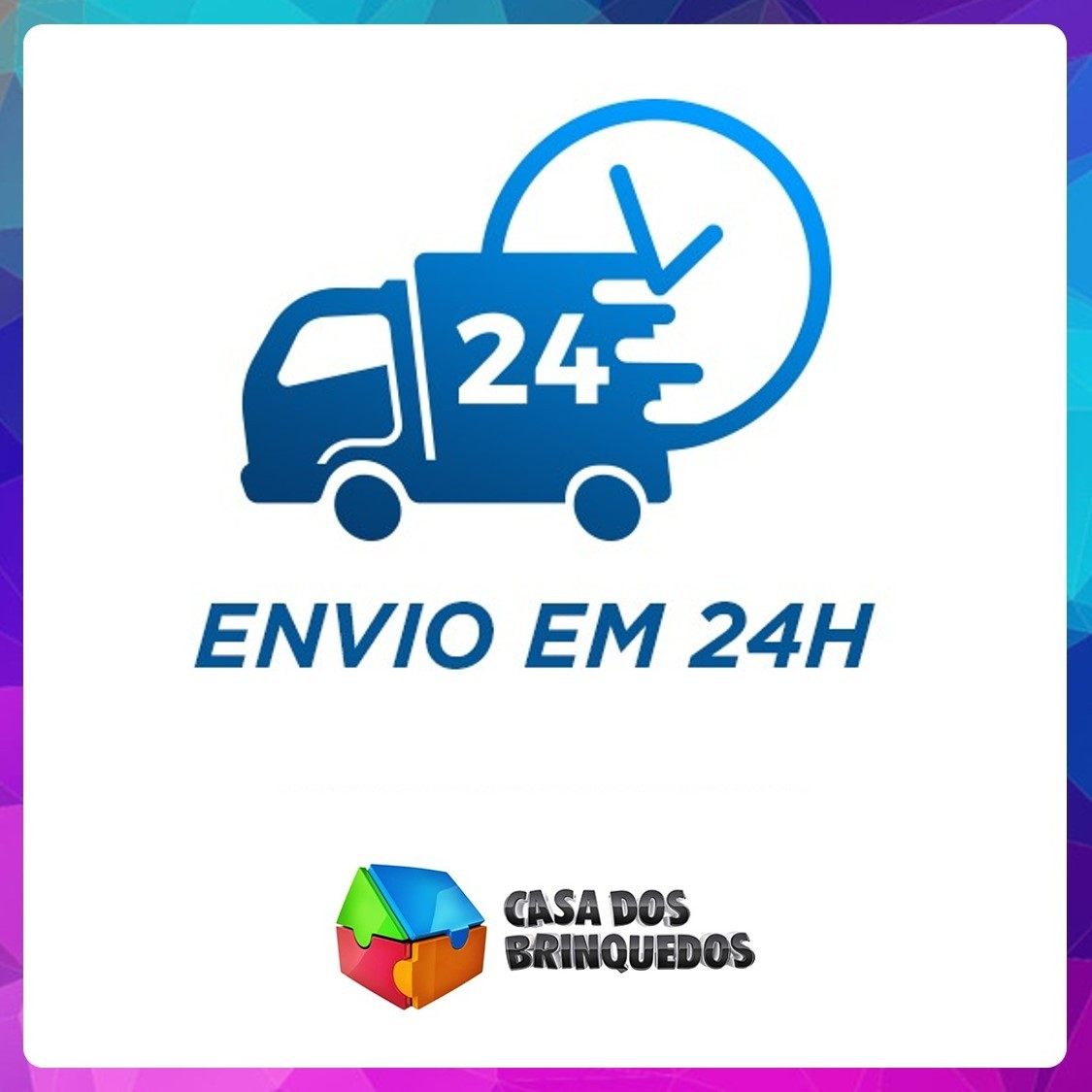 CAMINHÃO IVECO TECTOR BAU AZUL 451 USUAL PLASTIC