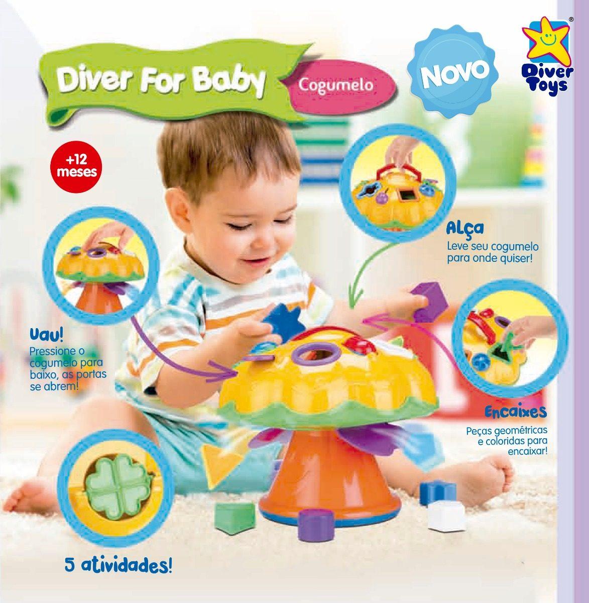 COGUMELO DIVER FOR BABY PEDAGÓGICO 697 DIVERTOYS