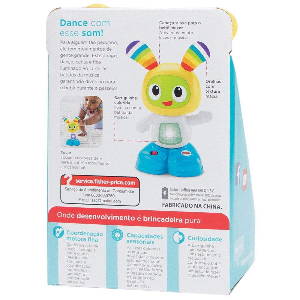 FIGURA BEATBO JÚNIOR LUZ E SOM FDN71 FISHER-PRICE