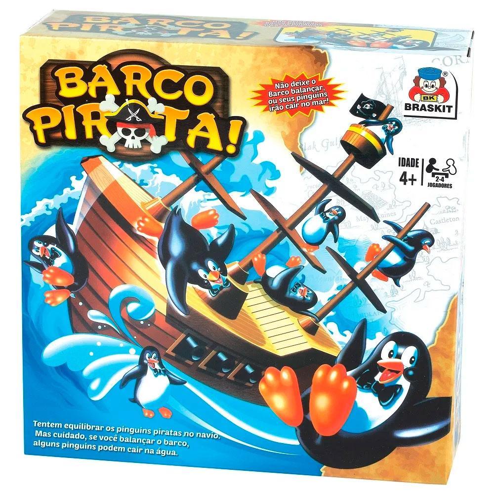 JOGO BARCO PIRATA EQUILÍBRIO DOS PINGUINS 0705 BRASKIT