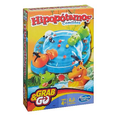 JOGO GRAB & GO HIPOPOTAMO COMILAO B1001 HASBRO