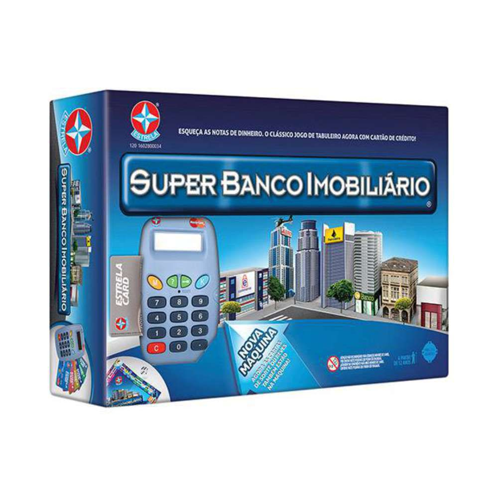 JOGO SUPER BANCO IMOBILIÁRIO 1201602800034 ESTRELA