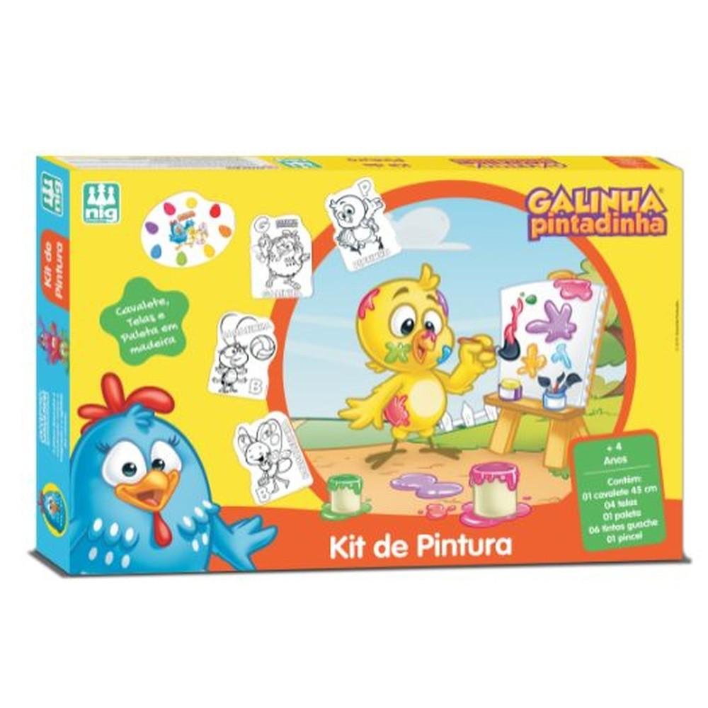 KIT DE PINTURA GALINHA PINTADINHA COM CAVALETE 073201 NIG