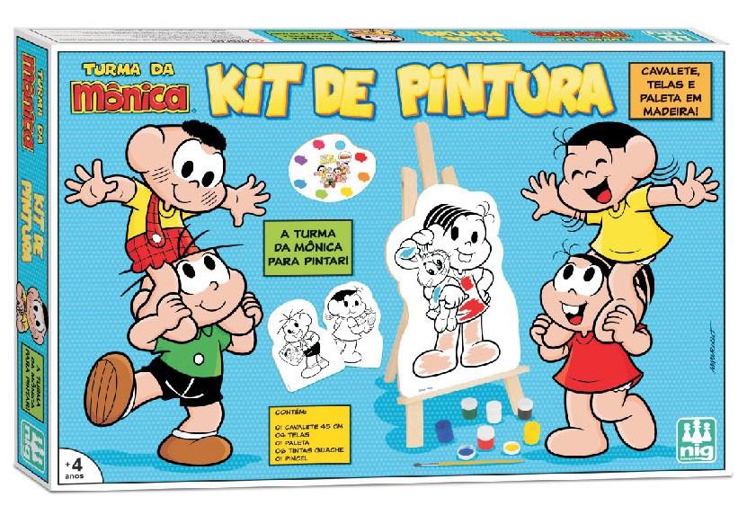 KIT DE PINTURA TURMA DA MÔNICA COM CAVALETE 0766 NIG