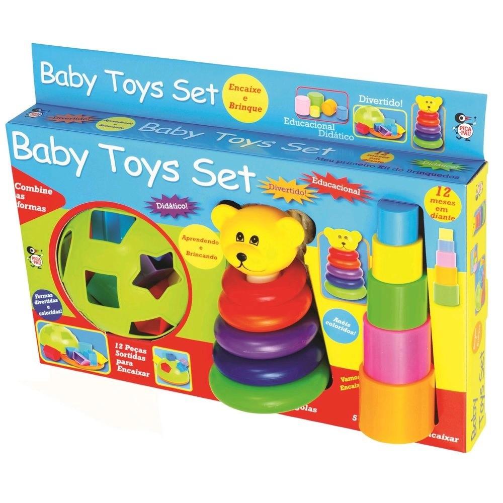 KIT EDUCATIVO BABY TOYS SET 12 PEÇAS 580 PICA PAU