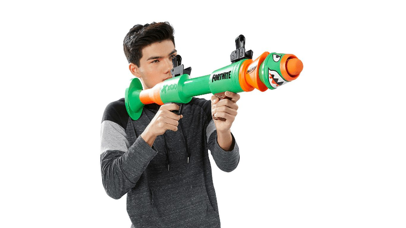 LANCADOR NERF FORTNITE RUSTY ROCKET HASBRO E7511