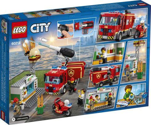 LEGO CITY COMBATE FOGO BAR HAMBÚRGUERES 60214