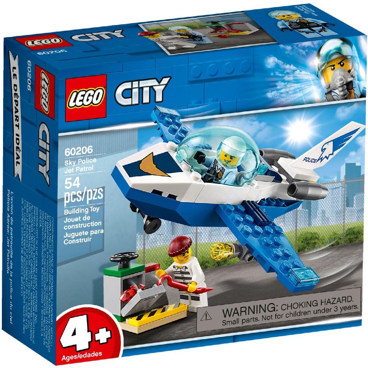 LEGO CITY PATRULHA AÉREA JATO PATRULHA 60206
