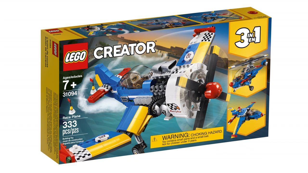 LEGO CREATOR 31094 AVIÕES DE CORRIDA 3 EM 1