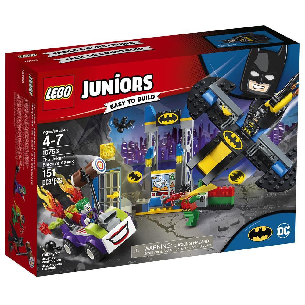 LEGO JUNIOR O ATAQUE À BATCAVERNA DO JOKER 10753