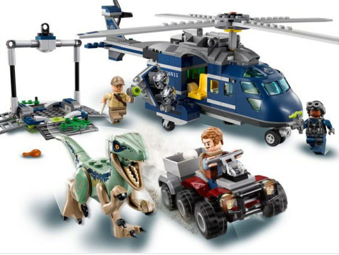 LEGO JURASSIC WORLD 75928 PERSEGUIÇÃO HELICÓPTERO AZUL