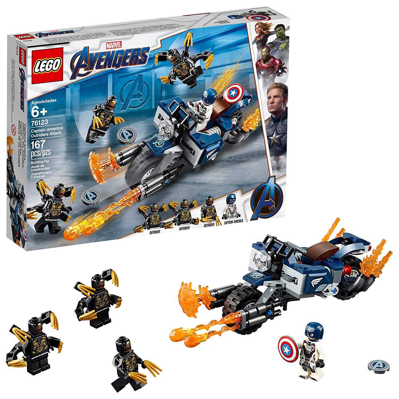 LEGO AVENGERS CAPITAO AMERICA ATAQUE 76123