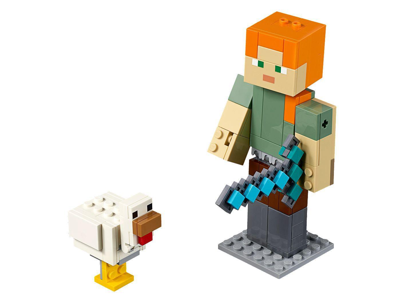 LEGO MINECRAFT ALEX GIGANTE E GALINHA 21149