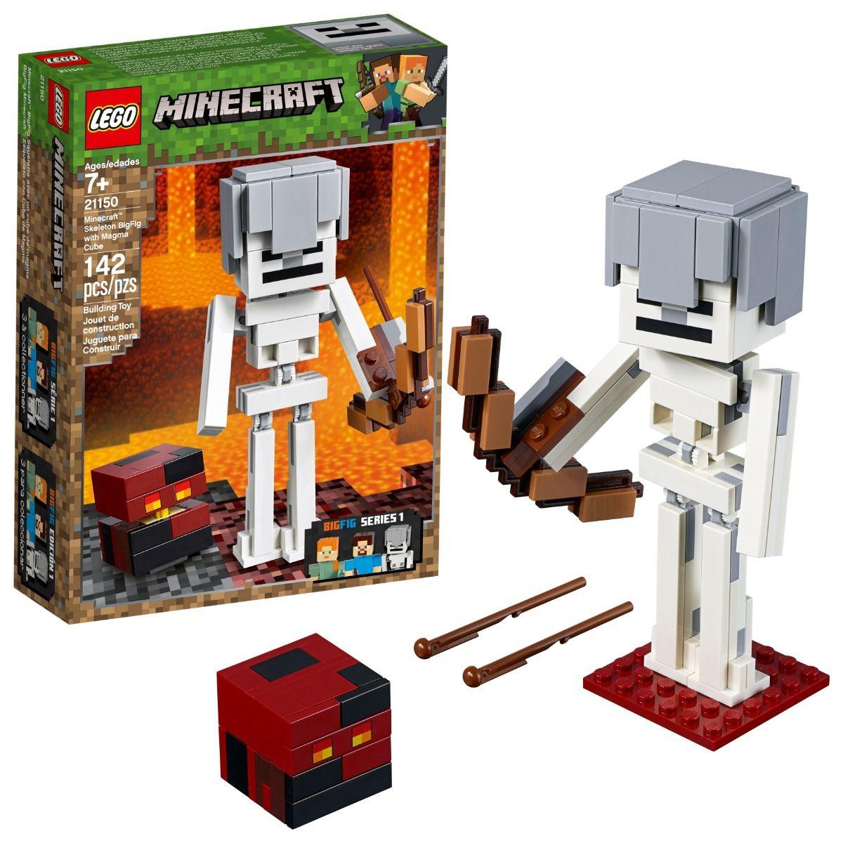 LEGO MINECRAFT ESQUELETON GIGANTE E CUBO DE MAGMA 21150