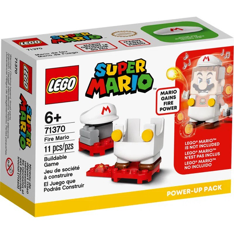 LEGO SUPER MARIO MARIO DE FOGO POWER UP 71370 LEGO