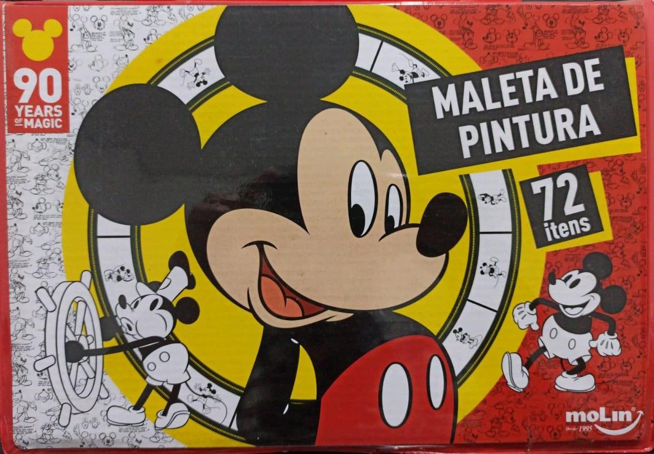 MALETA DE PINTURA MICKEY ESTOJO 72 PEÇAS 20036A MOLIN