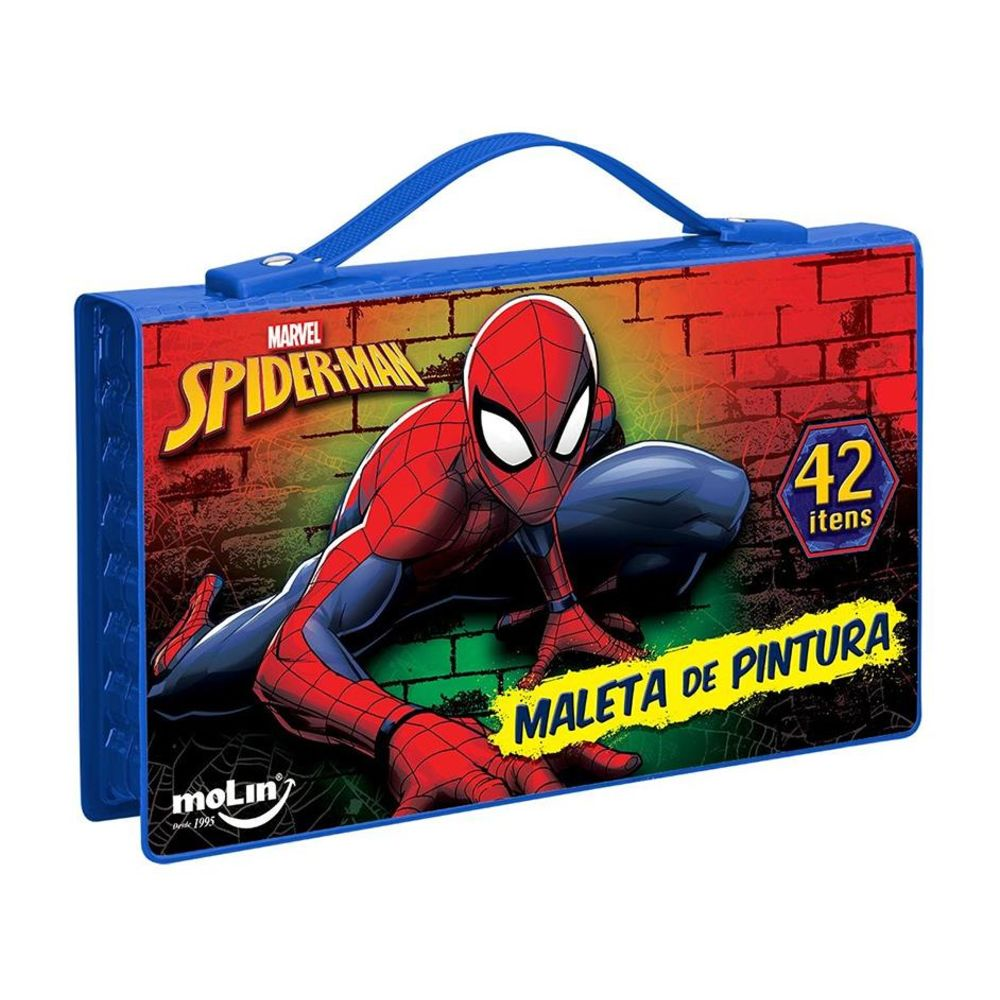 MALETA DE PINTURA SPIDERMAN 42 ITENS SERIE 2 05284 MOLIN