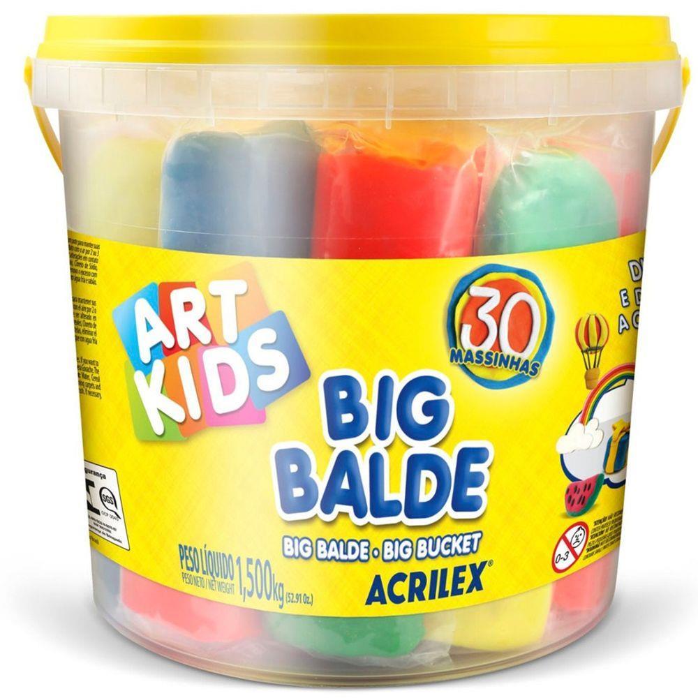 MASSINHA DE MODELAR BIG BALDE ART KIDS 1,5KG 40023 ACRILEX