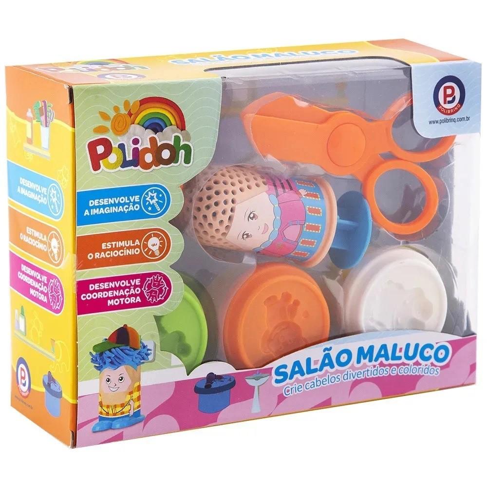 MASSINHA DE MODELAR POLIDOH SALÃO MALUCO MM002 POLIBRINQ