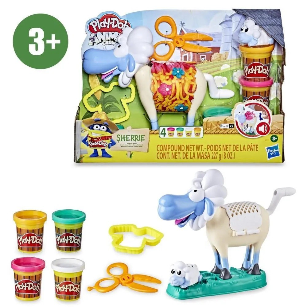 MASSINHA PLAY-DOH ANIMAL FAZENDA OVELHA E7773 HASBRO