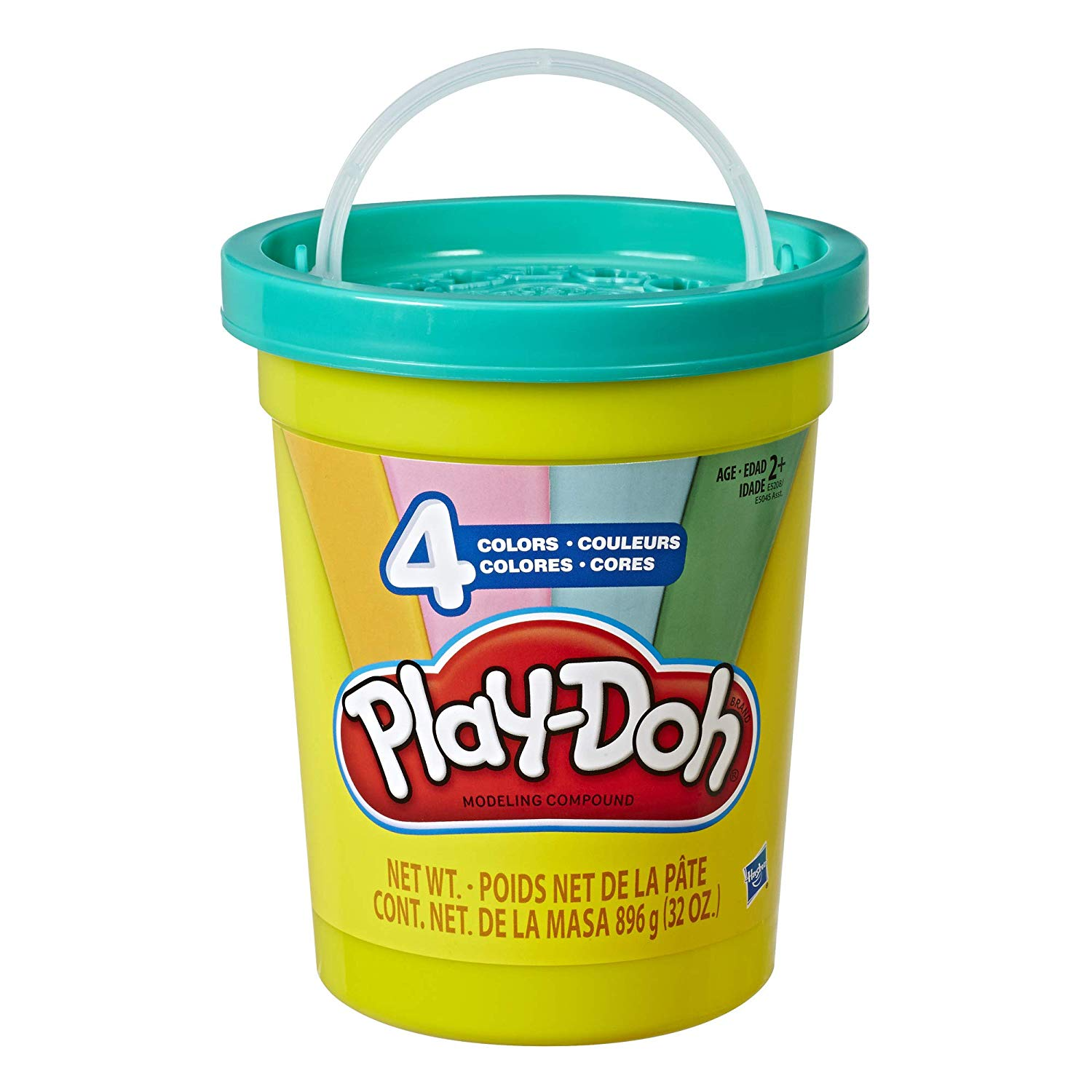 MASSINHA PLAY-DOH SUPER 4 CORES POTE VERDE E5045 HASBRO