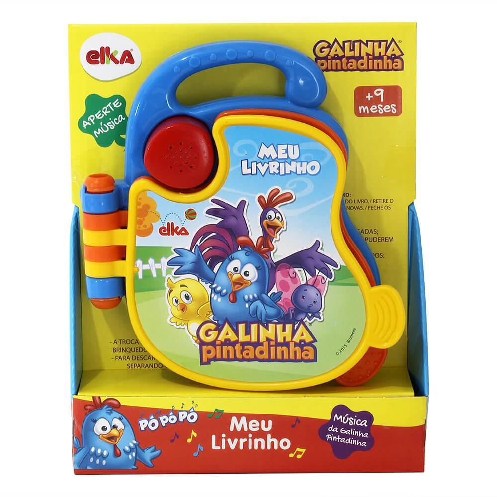 MEU LIVRINHO GALINHA PINTADINHA MUSICAL 17 CM 940 ELKA