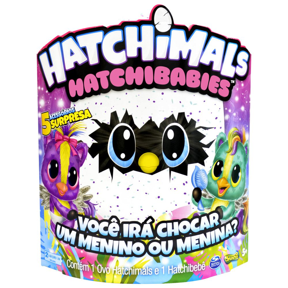 MINI FIGURA SURPRESA HATCHIMALS HATCHIBABIES PONETTE SUNNY