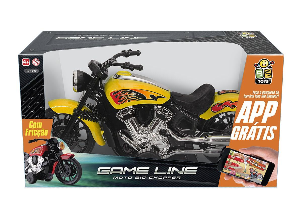 MOTO BIG CHOPPER FRICÇÃO GAME LINE C/ APP GRÁTIS 313 BS TOYS