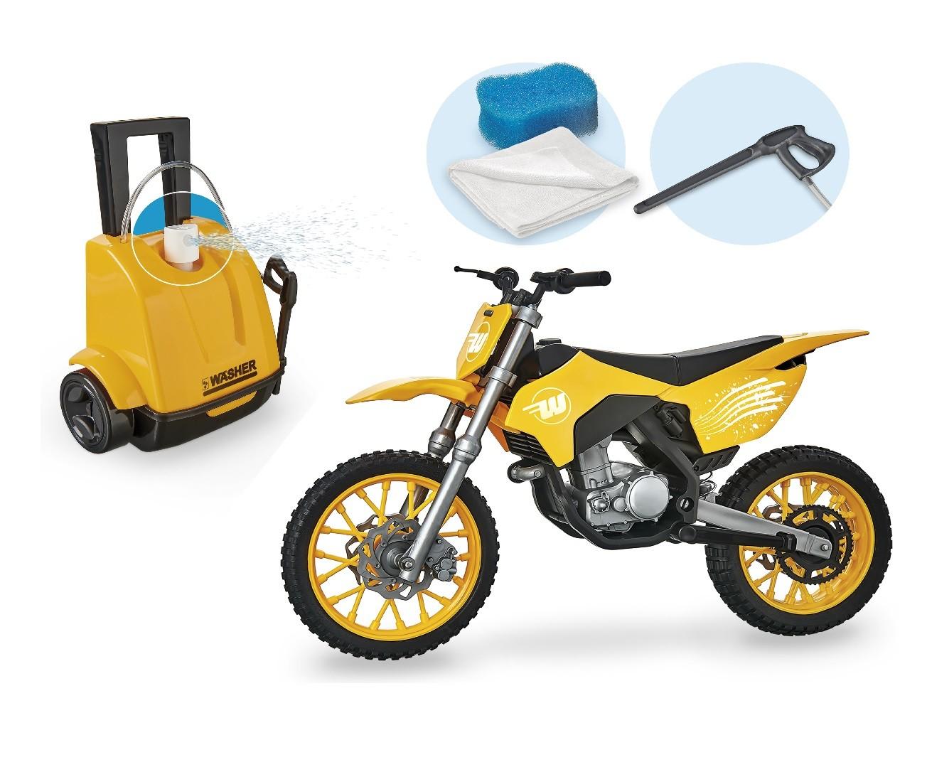 MOTO CROSS WASH GARAGE VERDE 452 USUAL BRINQUEDOS