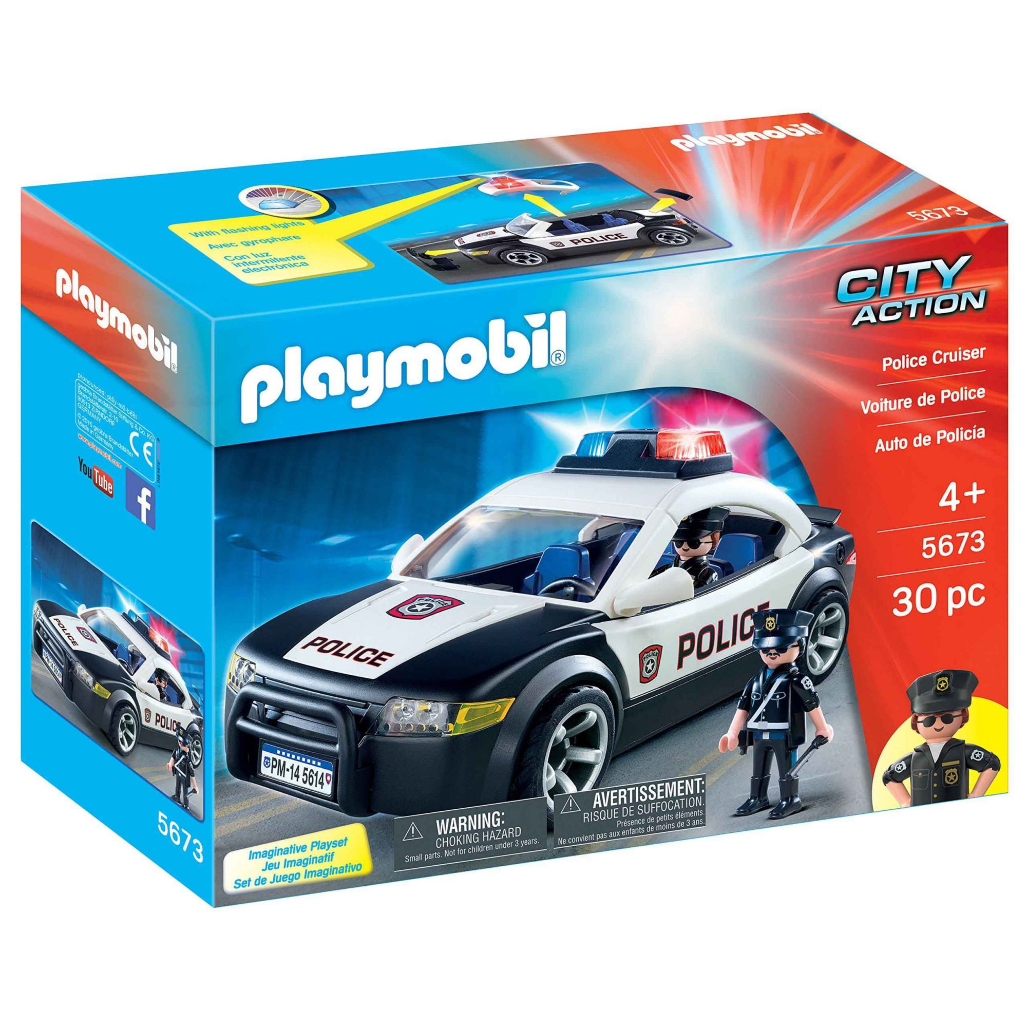PLAYMOBIL CITY ACTION CARRO DE POLICIA SUNNY 5673