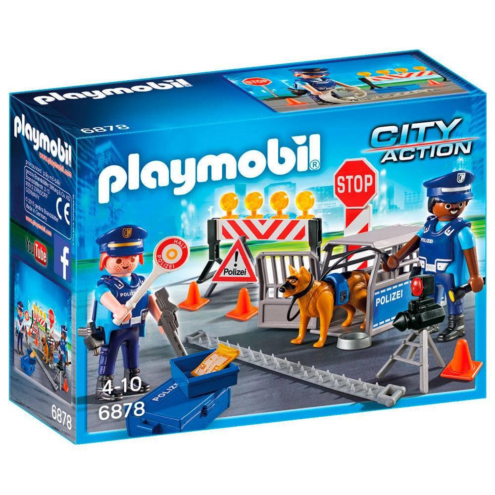 PLAYMOBIL CITY ACTION PLAYSET E MINI  FIGURAS BLOQUEIO POLICIAL