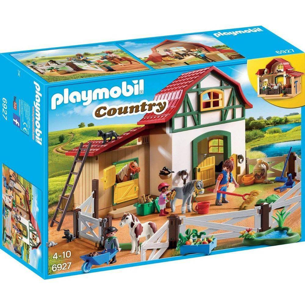 PLAYMOBIL COUNTRY FAZENDINHA COM PÔNEIS