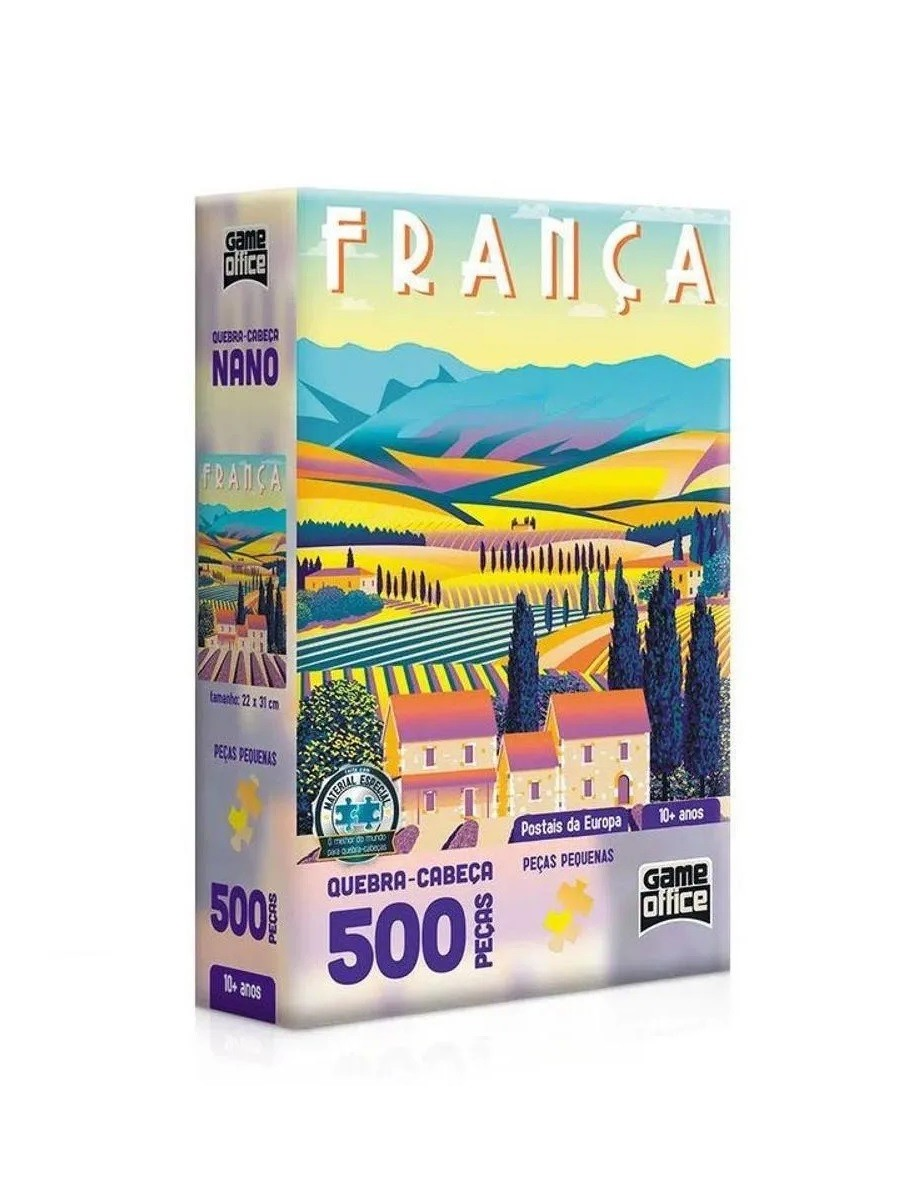 QUEBRA CABEÇA POSTAIS DA EUROPA FRANÇA 500 PÇ 2616 TOYSTER