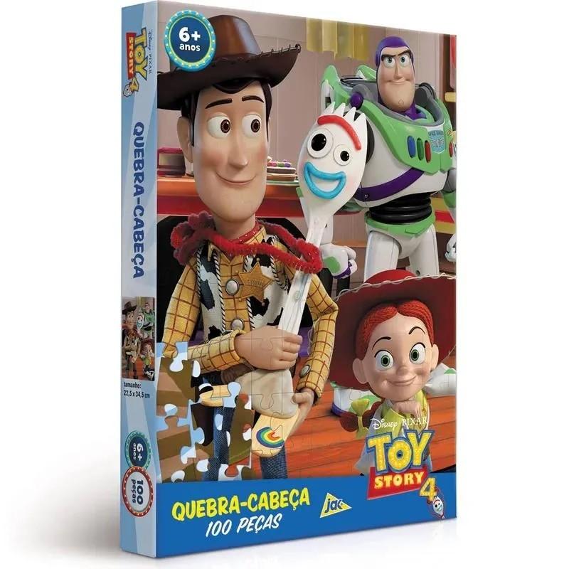 QUEBRA CABEÇA TOY STORY 4 ENCAPADO 100 PEÇAS 002630 TOYSTER