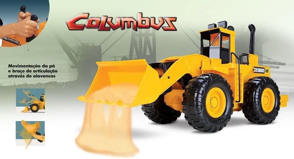 TRATOR COLUMBUS CARREGADEIRA COM ALAVANCA 0330 ROMA