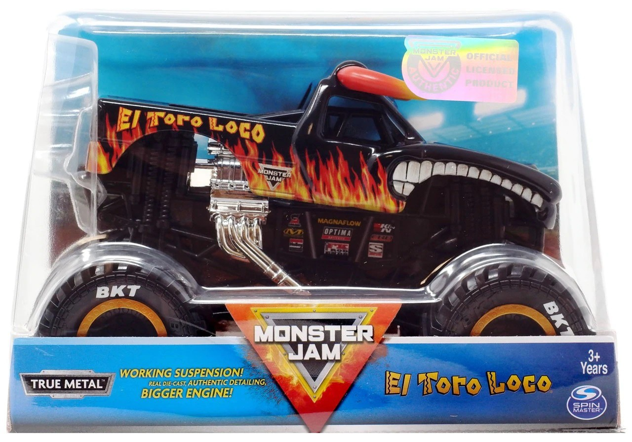 VEÍCULO MONSTER JAM 1:24 COLLECTOR EL TORO LOCO 2022 SUNNY