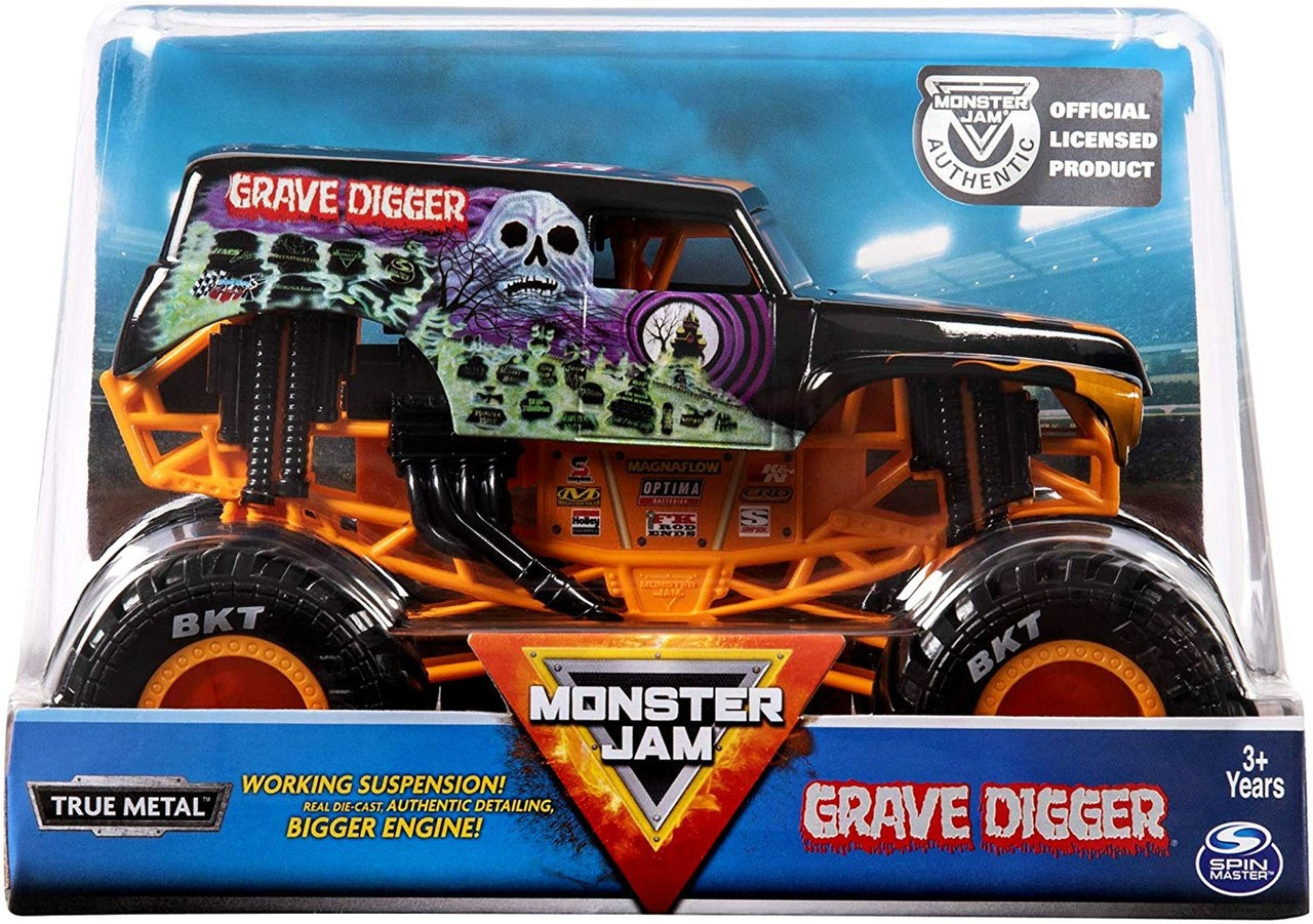 VEÍCULO MONSTER JAM 1:24 COLLECTOR GRAVE DIGGER 2022 SUNNY