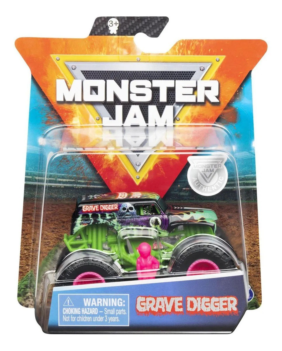 VEICULO MONSTER JAM TRUCK 1:64 GRAVE DIGGER 2025 SUNNY