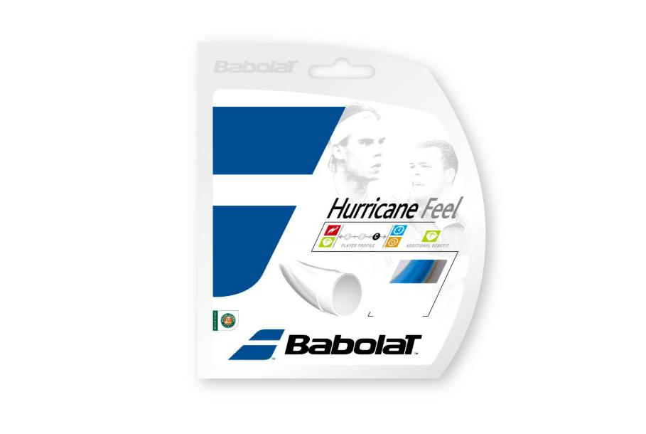 Corda Babolat Hurricane Feel 16L 1,30mm Azul - 03 sets