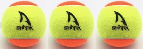 Bola De Beach Tênis Shark - Tênnis Stage 2 - Pack 3 Bolas